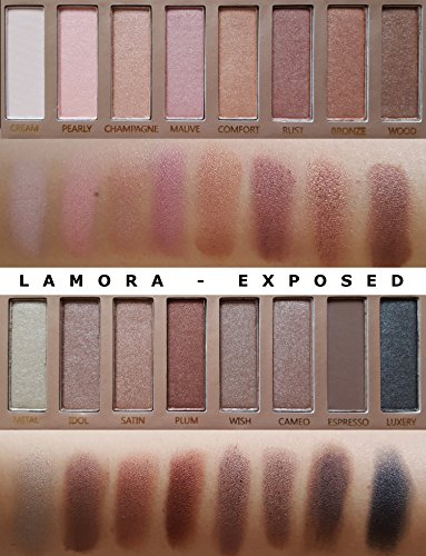 Best Pro Eyeshadow Palette Makeup - Matte Shimmer 16 Colors - Highly Pigmented - Professional Nudes Warm Natural Bronze Neutral Smoky Cosmetic Eye Shadows by Lamora (Image #6)