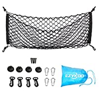 "Envelope Cargo Net EZYKOO 35""x 12"" Nylon Rear Elastic Cargo Mesh Trunk Organizer Storage Bag for Most Car Truck Van SUV"