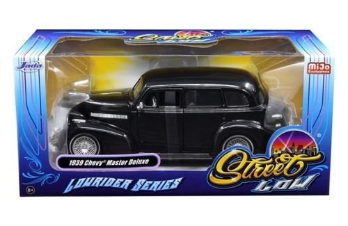 NEW 1:24 W/B JADA TOYS MiJo EXCLUSIVES COLLECTION - STREET LOW: LOWRIDER SERIES - BLACK 1939 CHEVROLET MASTER DELUXE Diecast Model Car By Jada Toys ()