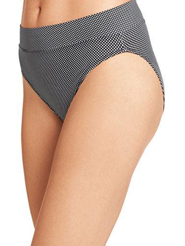 Warner's Women's No Pinching No Problems Brief Panty, Black/White Pindot, 7 (Large) ()