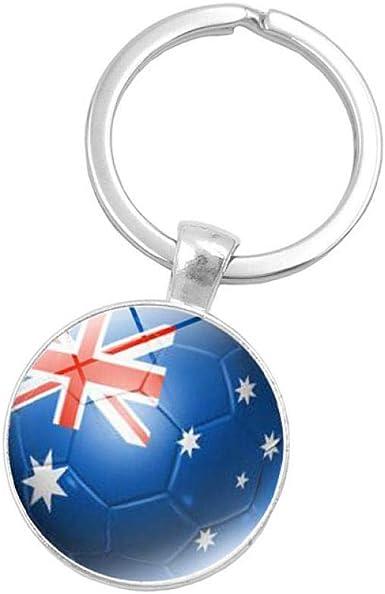 xinxin24 Fútbol Balón De Fútbol Llavero De Metal Llavero Australia ...