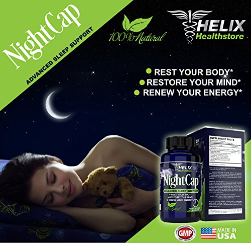 BEST Natural Sleep Aid Supplement For Adults. Advanced Formula for Deep Sleep & Restored Energy. 60 Capsules With Valerian Root & Melatonin. Non-Habit Forming OTC Herbal Sleeping Pills. Made in USA.
