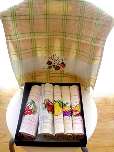 Amazon.com: LINEN Kitchen Towel,Checkered Towel,Striped ...