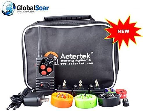Aetertek 216D-550S-3 600 Yard 3 Dog Training Anti Bark Waterproof Collar