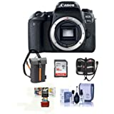 Canon EOS 77D DSLR Body - Bundle with 16GB SDHC Card, Holster Case, Cleaning Kit, Memory Wallet, Card Reader, Mac Software Package