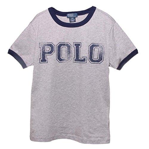 (Ralph Lauren Infants Boys Jersey 'Polo' Print Ringer T-shirt 12M Dark Sport)