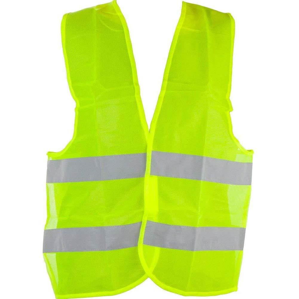 Reflective Safety Vest 360°High Visibility Reflectivity Construction Vest Washable Vest for Surveyor Emergency Public Traffic Standard Size(60g,Yellow) Rrunzfon
