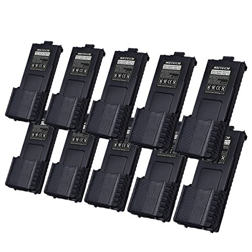 NKTECH BL-5L 7.4V 3800mAh Extended Li-ion Battery For BaoFeng Pofung UV-5R V2 UV-5RE Plus BF-F8HP UV-5RA BF-F8+ TYT TH-F8 Two Way Radio Batteries Accessories Warranty Pack of 13 by NKTECH