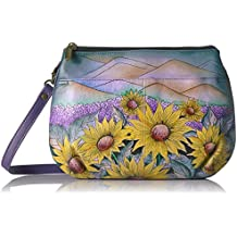 Anuschka Anna Handpainted Leather Multi Compartment X-Body,Hills of Tuscany