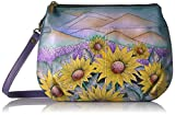 Anuschka Anna Handpainted Leather Multi Compartment X-Body, Hills of Tuscany