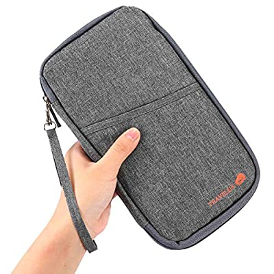 UBAYMAX Glove Box Console Organizer with 12 Pockets, Zipper Car Vehicle OCD Document Holder Case Armrest Storage Wallet for Owners Manual Car Registration Insurance Card Tire Gauge Changes (Gray): Automotive