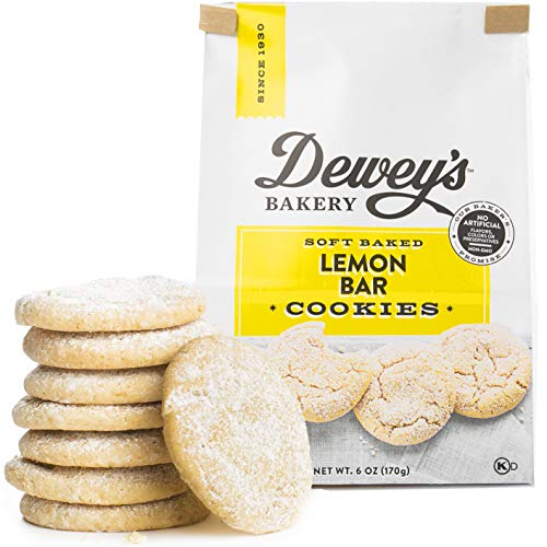 Lemon Cookies Recipe - Dewey's Bakery Lemon Bar Soft Baked Cookies | Baked in Small Batches | Real, Simple Ingredients | Southern Bakery Recipe | 6 oz (Pack of 3)