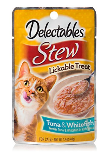 Delectables Stew Lickable Wet Cat Treats - Tuna & Whitefish - 12 Pack