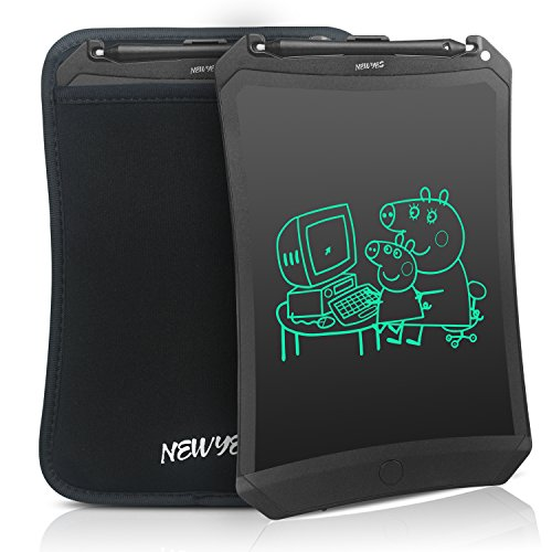 - Newyes Robot pad 8.5 Inch LCD Writing tablet electronic writings pads Drawing board gifts for kids office blackboard - Erase Button Lock Included(Black+case)