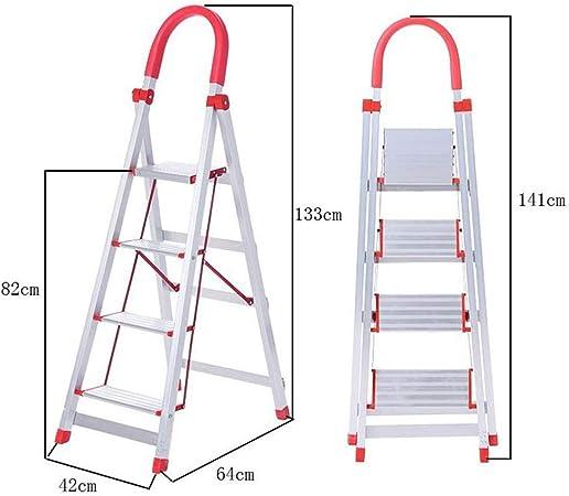 Xsgsgfs Escaleras Plegables peldaños, Paso 3/4-Paso Escalera de Aluminio, Plegable Escalera, extensión de la Cocina Paso, Multiusos Escalera del hogar, Home Office Jardín Loft Escalera Plegable: Amazon.es: Hogar