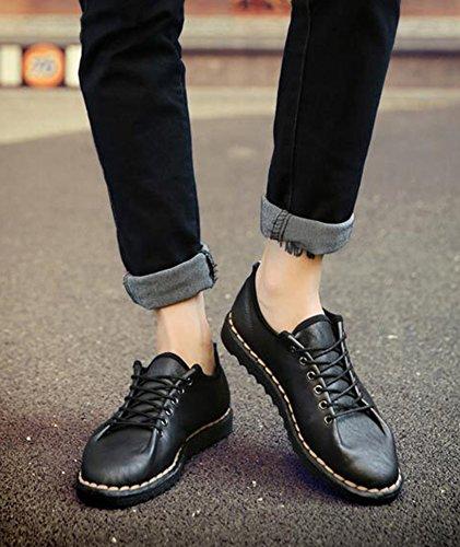 Hommes Insun Occasionnels Chaussures Robe Cuir Mocassins Noires Faux En wqIntBtxaH