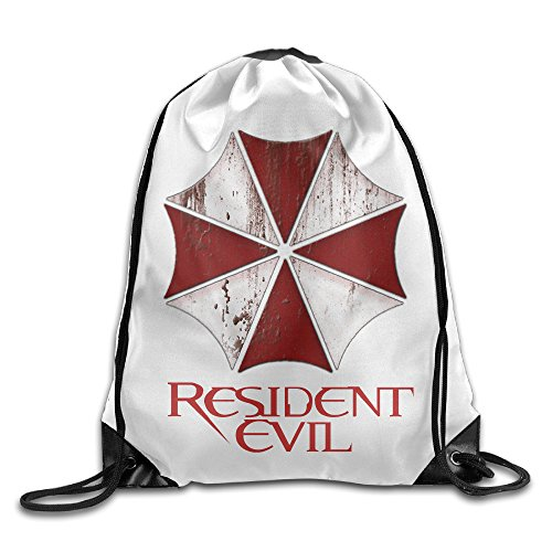 Price comparison product image CEDAEI Resident Evil Drawstring Bags Traveler White Backpack Sport Bag For Men & Women School Travel Backpack For Teens College