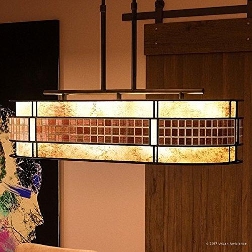 Copper Revival Collection - Luxury Art Deco Linear Chandelier, Large Size: 21