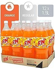 F&N Sparkling Flavoured Drink Outrageous, Orange, 12 x 1.5L