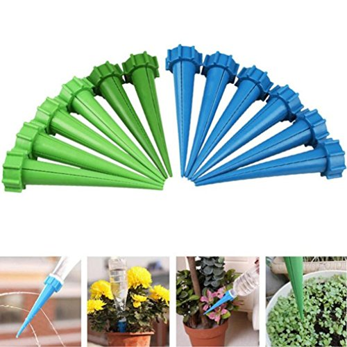 YJYdada 12× Automatic Watering Irrigation Spike Garden Plant Flower Drip Sprinkler Gift (Cleaning Kit Treadmill)