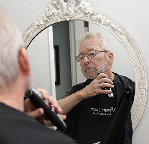 men 39 s beard bib barbering smock catches hair clippings helps preve. Black Bedroom Furniture Sets. Home Design Ideas