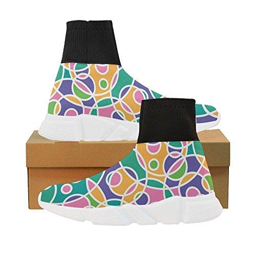 LEINTEREST circtie die mandala Unicorn Stretch Sock Shoes for Women TIAoRD1