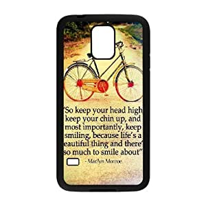 Marilyn Monroe Quotes Custom Cover Case with Hard Shell Protection for SamSung Galaxy S5 I9600 Case Queer908177