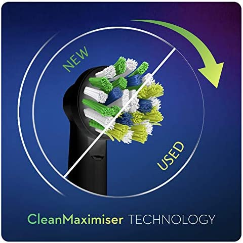 Oral-B CrossAction Brossette Avec Technologie CleanMaximiser, Édition Noire, Lot De8