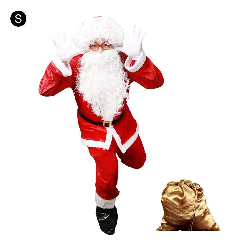 B gaeruite Christmas Santa Claus Cosplay Kostüm für Erwachsene, Weihnachtskleidung für Weihnachtsdekor