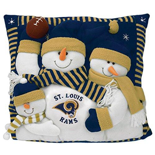(St. Louis Rams Snowman Family Pillow)