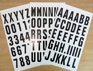 Buchstaben Etiketten Aufkleber Schwarz
