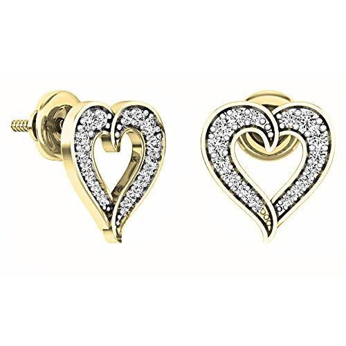 Diamond 18k White Gold Heart Ring - 7