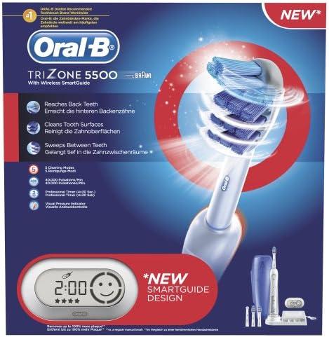Oral B TriZone 5500 Elektrische Premium Zahnbürste (mit Reise Etui und SmartGuide)