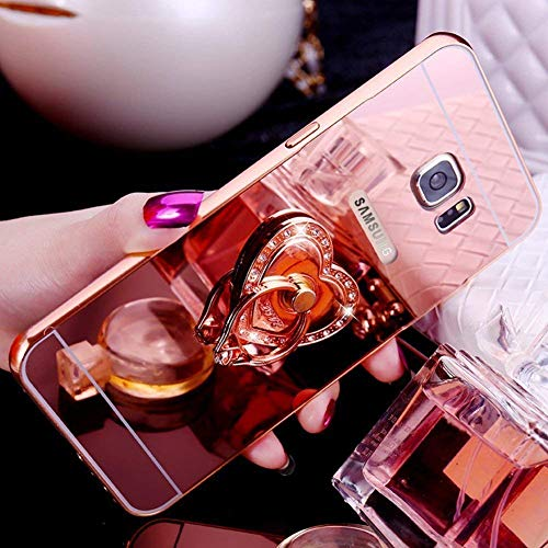 pour Paillettes Plus de Scintillante Galaxy Samsung Miroir Strass Luxe Poudre S8 Coque Shiny Plus Clair Silicone S8 étu Galaxy Bling Clear Coque Cristal Amour Cover Brillant Ekakashop Carré et Or Rose Argent Mirror qTXEK