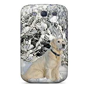 Durable Case For The Galaxy S3- Eco-friendly Retail Packaging(labrador Sitting In The Snow)