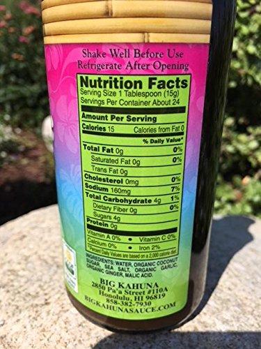 Big Kahuna Organic Lau Marinade, Gluten Free, 3 Bottles. by Big Kahua Sauce