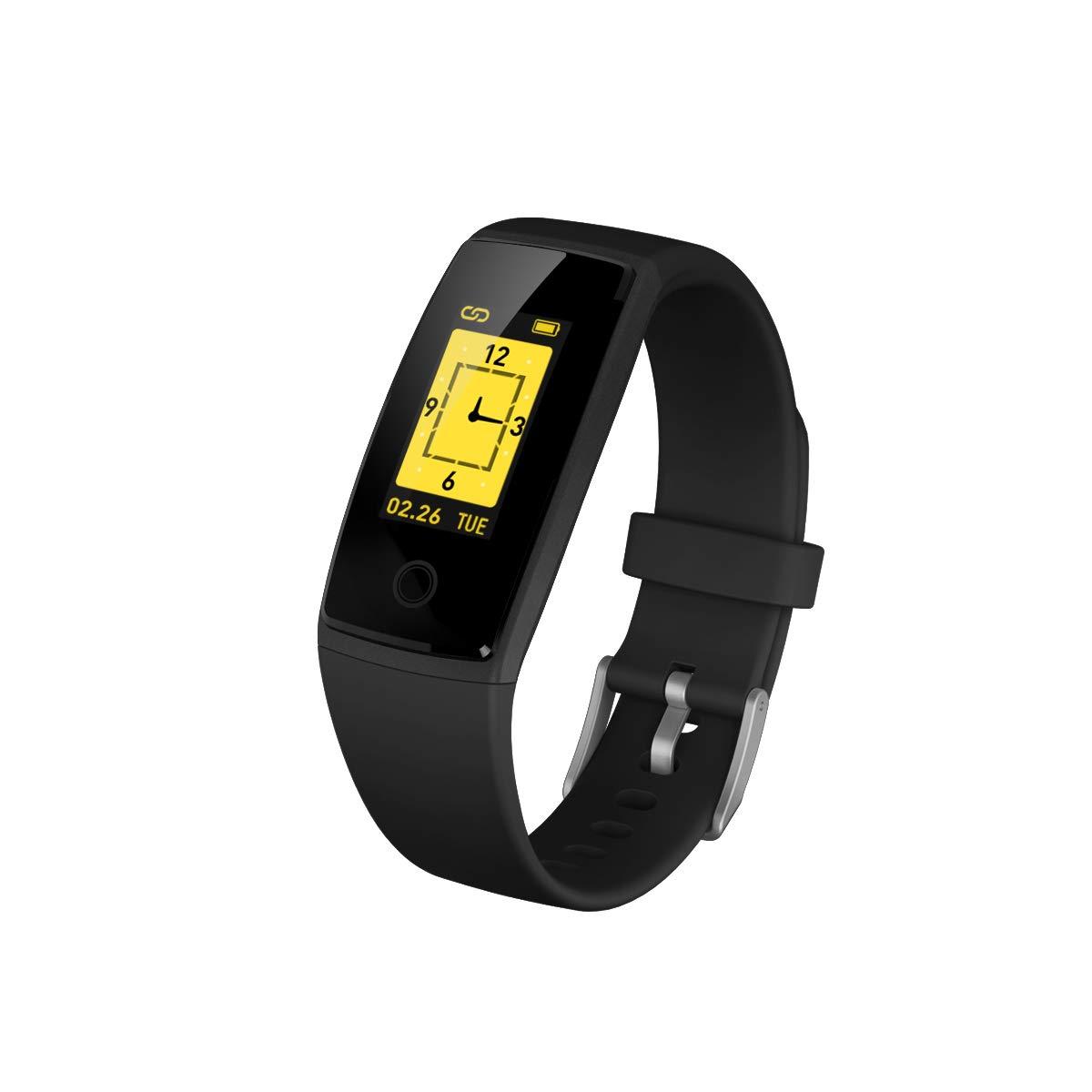 modiwenハートレートBluetoothスマートブレスレット腕時計睡眠モニター血圧歩数計ストップウォッチスポーツリストバンド ブラック B07B946D93 ブラック B07B946D93, オキグン:34f70983 --- arvoreazul.com.br
