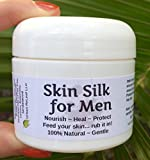 SKIN SILK for MEN! Heal & protect freshly shaved faces, heads & dry rough skin! 100% Natural Balm Cream Lotion HEALS Dry, Irritated Skin and cracked hands! Soothes after shaving! Great Mens GIFT!