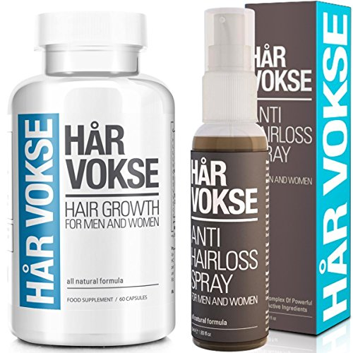 Har Vokse Natural Hair Loss and Regrowth Treatment, Supplement and Spray for Men and Women - 60 Capsules Plus 1 Bottle (Facts About Har compare prices)