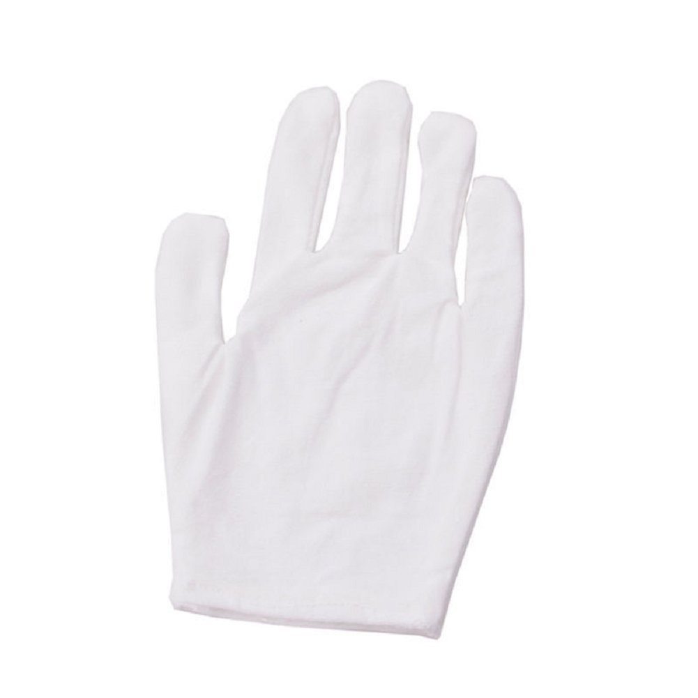 Kocome 12 Pairs White Inspection Cotton Lisle Work Gloves Coin Jewelry Lightweight