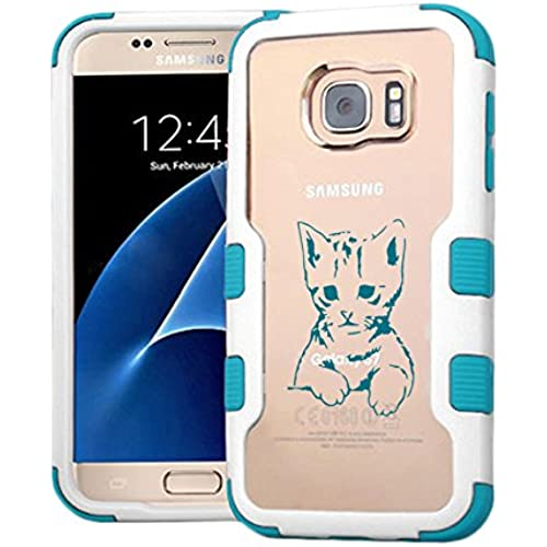Galaxy S7 Case Gloomy Cat, Extra Shock-Absorb Clear back panel + Engineered TPU bumper 3 layer protection for Sales