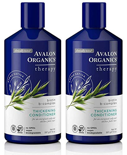 - Avalon Organics Biotin B-Complex Thickening Conditioner, 14 Ounce (Pack of 2)