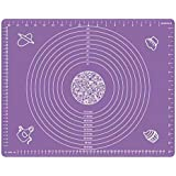 Large Silicone Baking Mat (40cmx60cm) Extra Thick Non Stick Silicone Pastry Mat with Measurement Fondant Mat, Macaron…