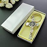 St Benedict Crucifix Jesus Keychain (12 PCS) Baptsim Faovor/Religious Catholic Gift Favor