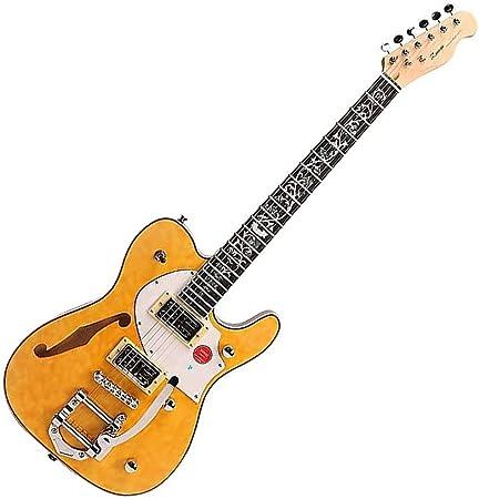ZUWEI エレキギター テレキャスタータイプ 3A Quilted Maple Top カスタムシリーズ 花インレイ仕様