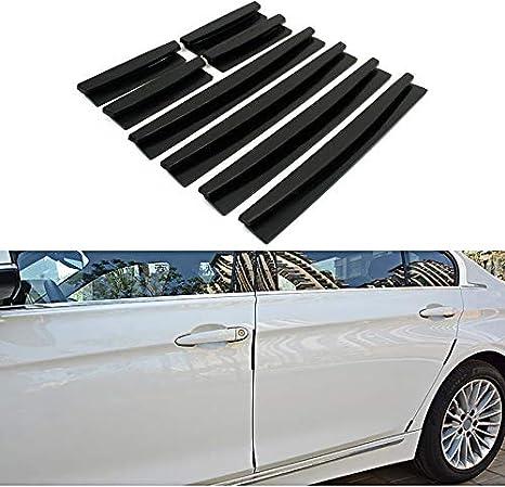 8er Set Auto T/ürkantenschoner Transparent oder Schwarz Schwarz f/ür KFZ PKW Selbstklebend