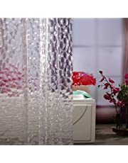 Newest Design Clear Shower Curtain Liner - Adwaita Heavy Duty EVA Plastic Mildew Fre New 3D Water Cube Clear Shower Curtain Liner-No Odors, No Chemicals, Eco Friendly