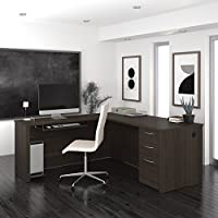 Bestar Furniture 60852-79 Embassy 66 L-shaped desk in Dark