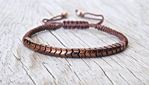 - Men Bracelet, Hematite Gemstone Snake Skin Bracelet, Mens Bracelet