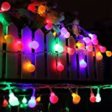 Battery Powered 5M 30 LED Ball Fairy String Light Outdoor Christmas Wedding Xmas Party Decor (Random: Color)